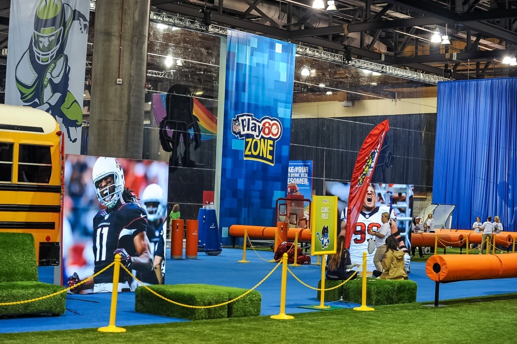 The Play 60 Kid Zone at NFL Experience.